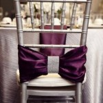 oeud de chaise chemin de table satin violet location decoration mariage decorevents gironde