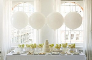 décoration buffet reception ballon